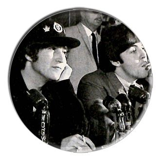 ONLY ONE Beatles McCartney Lennon 2-1/4 Inch Button