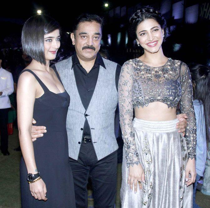Kamal Haasan with daughters Akshara Haasan and Shruti Haasan at the music  launch of 'Shamitabh'. #Bollywood #F… | Glamour world, Bollywood actress,  Indian actresses