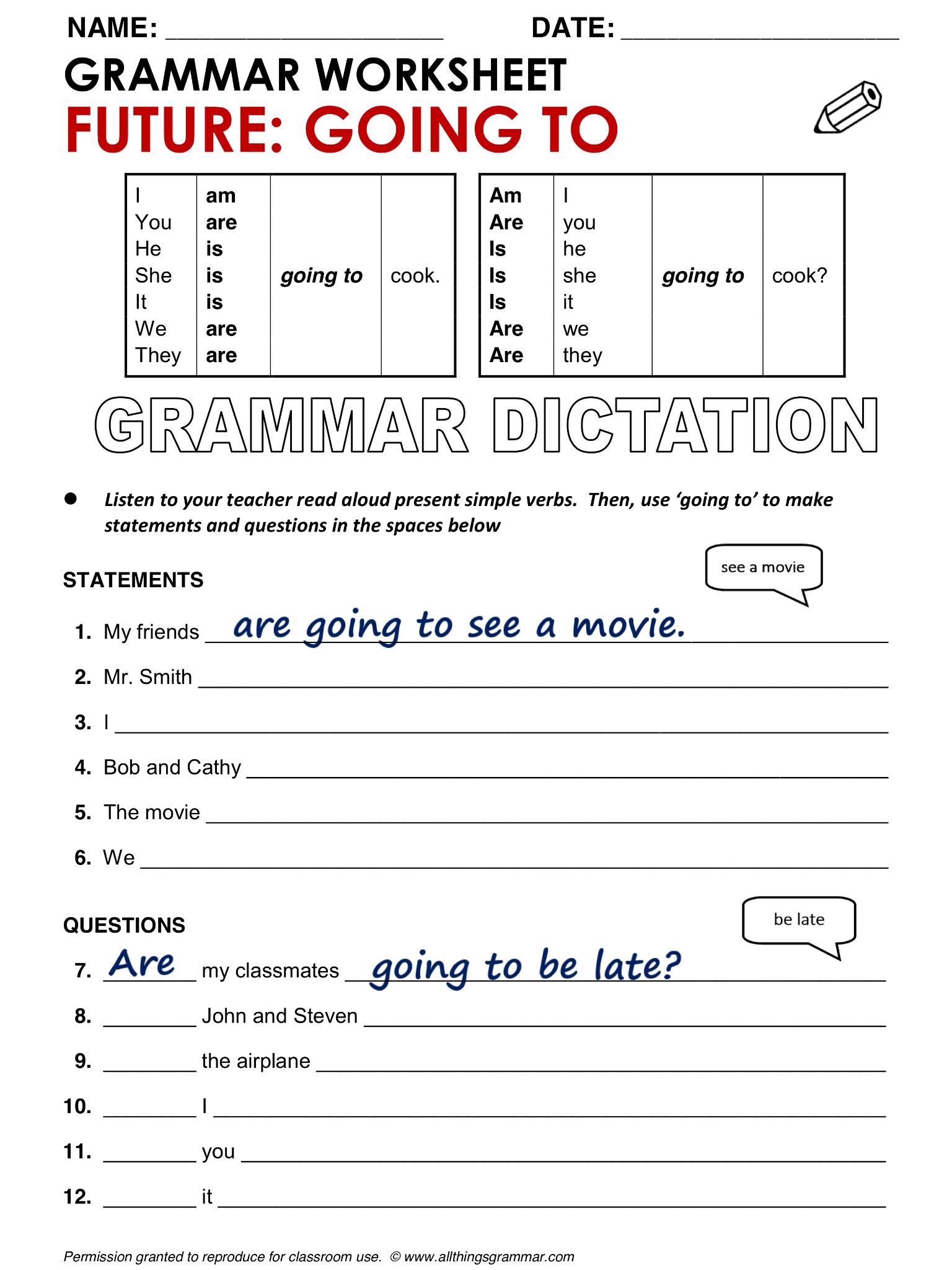 English Grammar Future Going To Lthingsgrammar