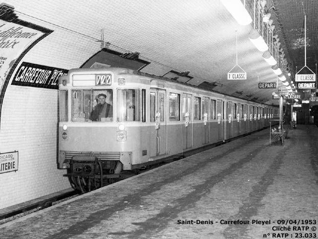 paris m tro carerfour pleyel ligne 13 09 04 1953 ratp paris et sa banlieue. Black Bedroom Furniture Sets. Home Design Ideas