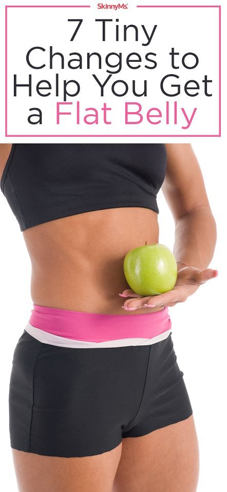Follow these 7 Tiny Changes to Help You Get a Flat Belly!