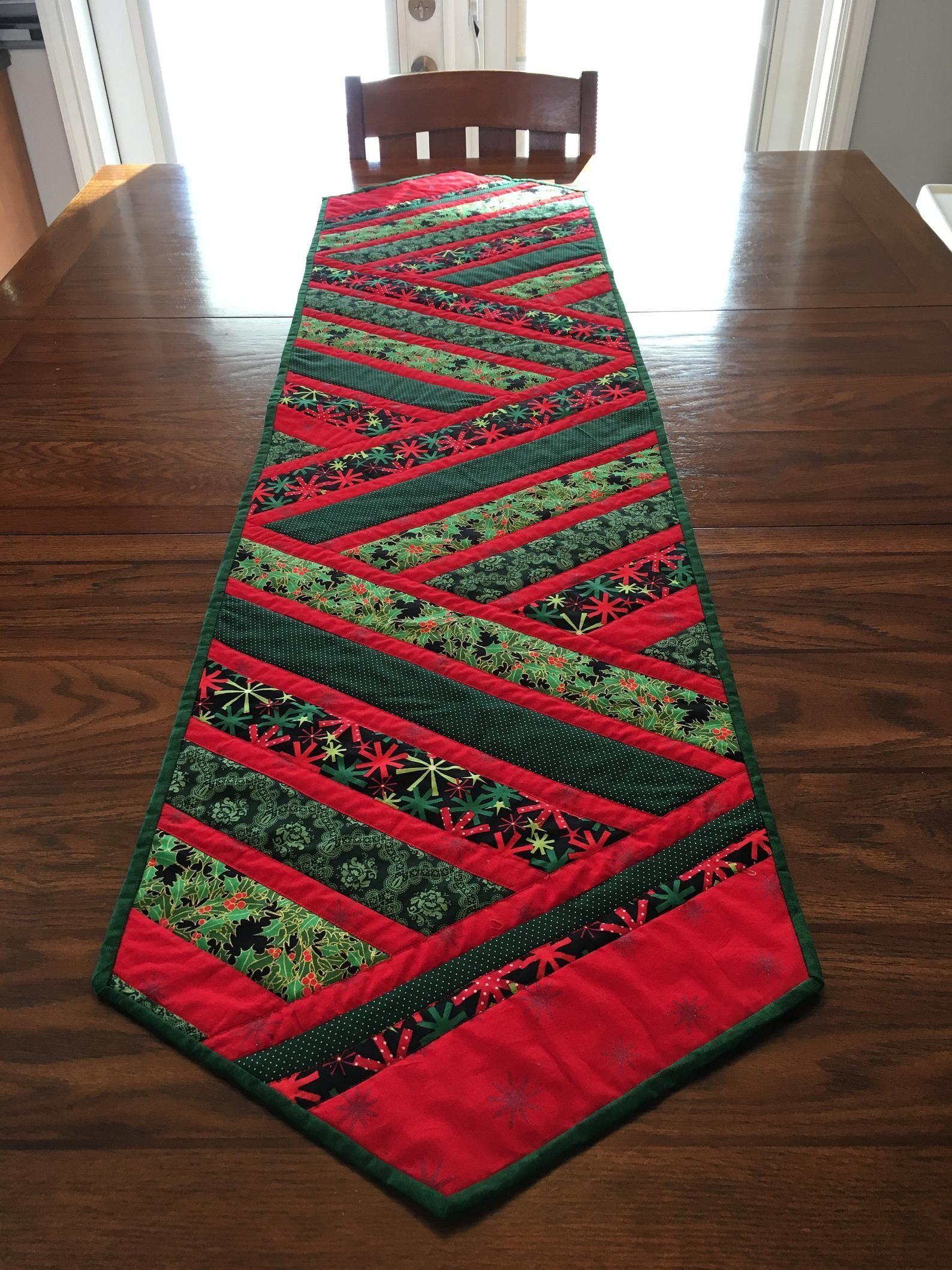 Christmas table runner diy christmastree christmastime