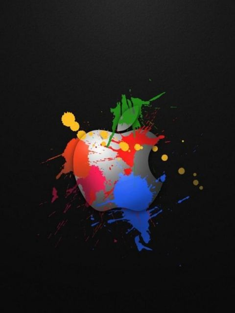 480x640 Hd Cool Apple Logo Design Iphone Wallpapers Backgrounds