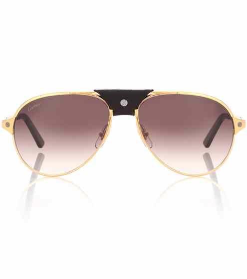 976c53acf430 Santos de Cartier aviator sunglasses