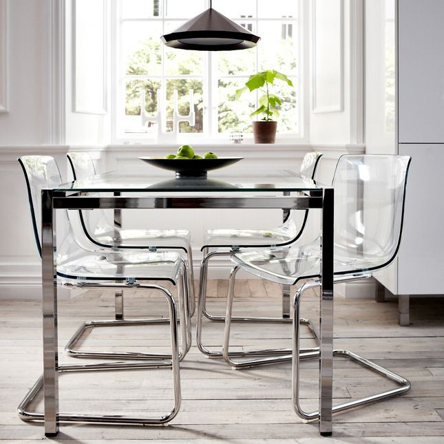 Charmant IKEA   TOBIAS, Chair, Clear/chrome Plated, , You Sit Comfortably Thanks To  The Restful Flexibility Of The Seat And Back.