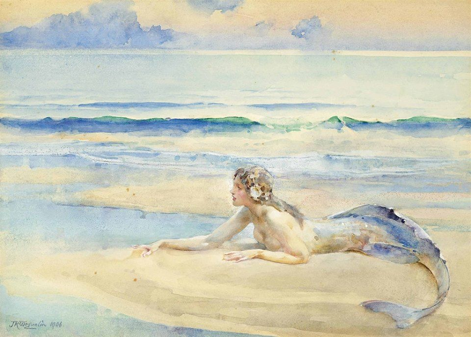 John Reinhard Weguelin (1849-1927) LA SIRENA The mermaid