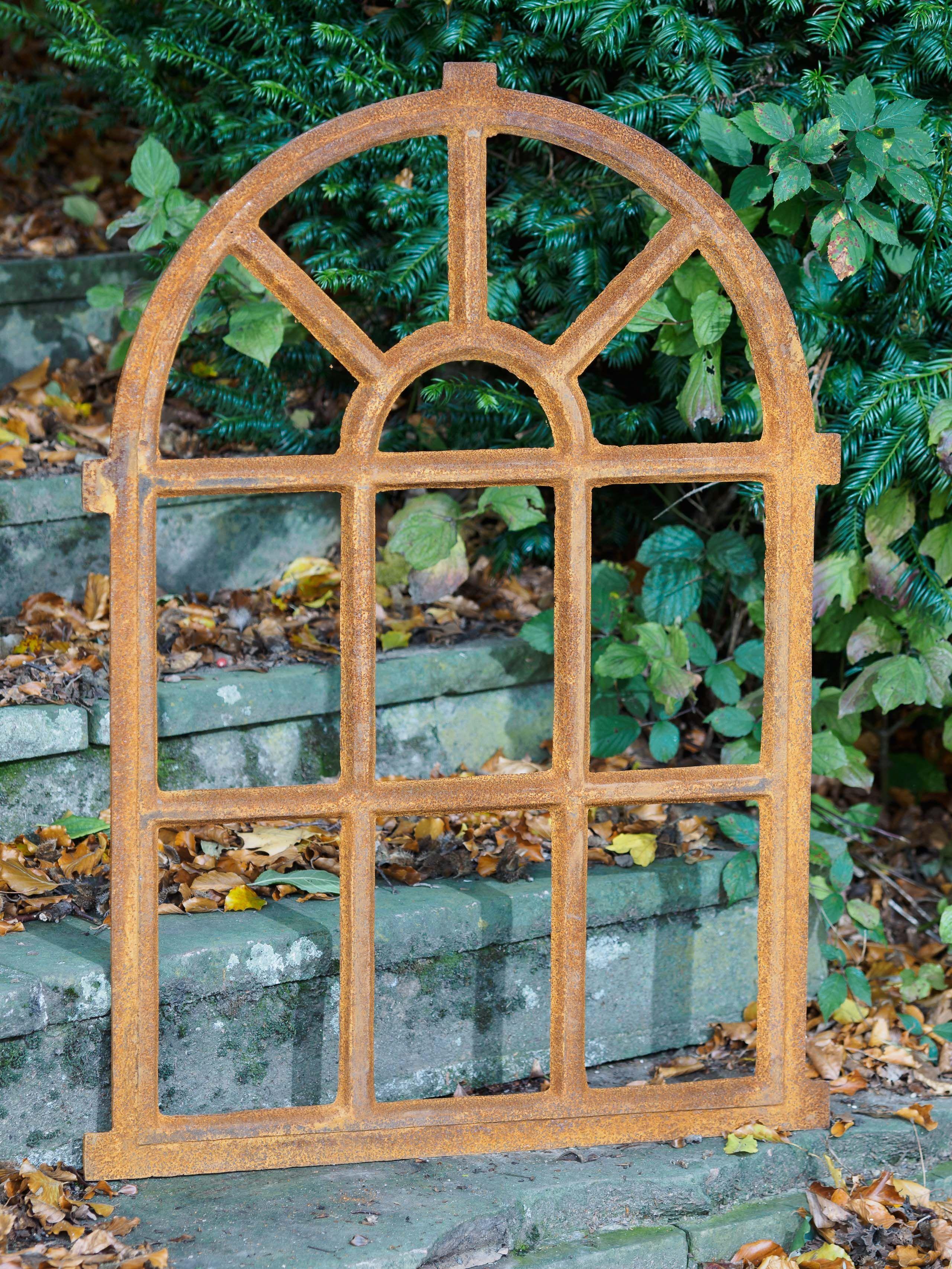 Fenster grau Stallfenster Eisenfenster Scheunenfenster Eisen 58cm Antik-Stil m
