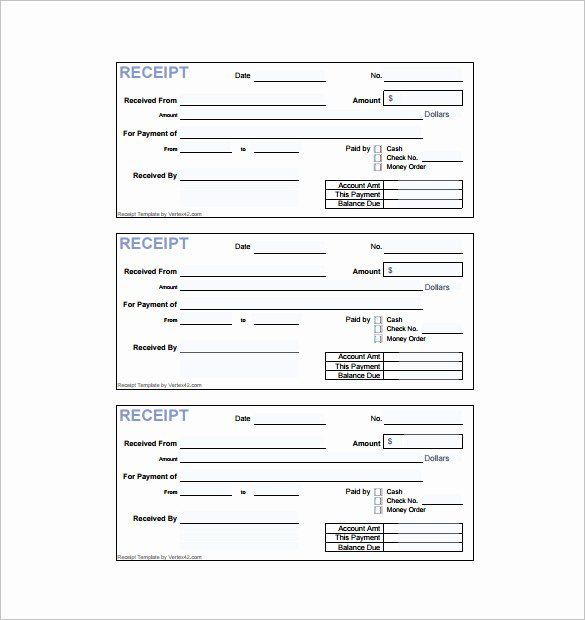 Free Easy Receipt Template