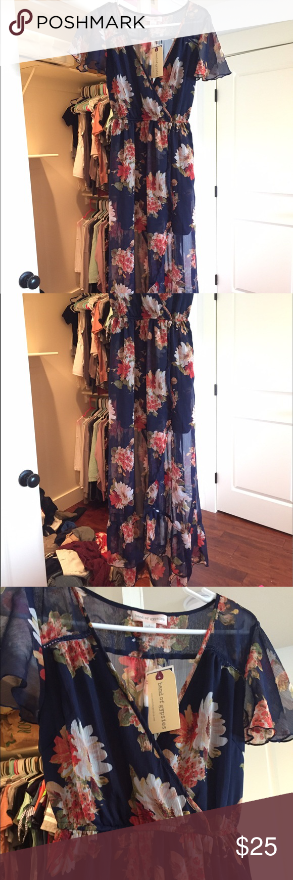 Floral print wrap dress Gorgeous dress for any summer occasion! Tags still attached, never worn. Bought it for a wedding and ended up not wearing it Dresses High Low