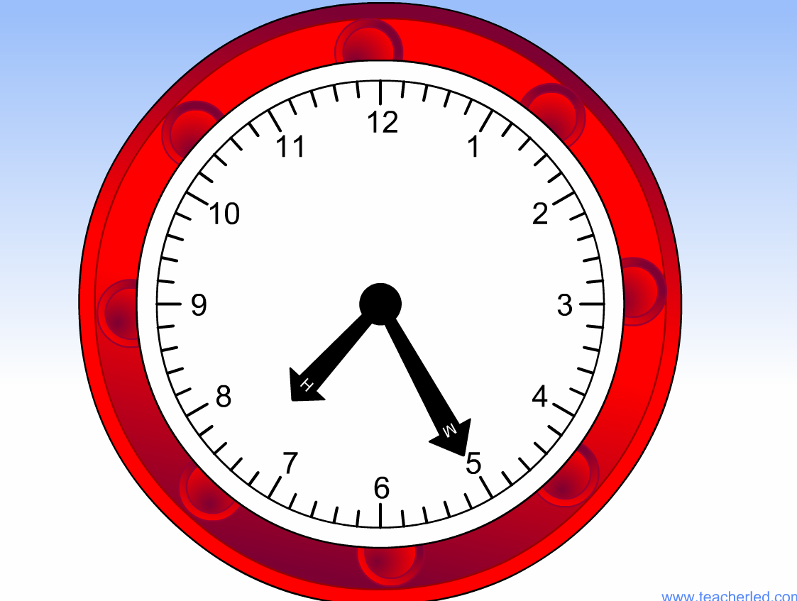 A Useful Interactive Clock To Use With A Whiteboard