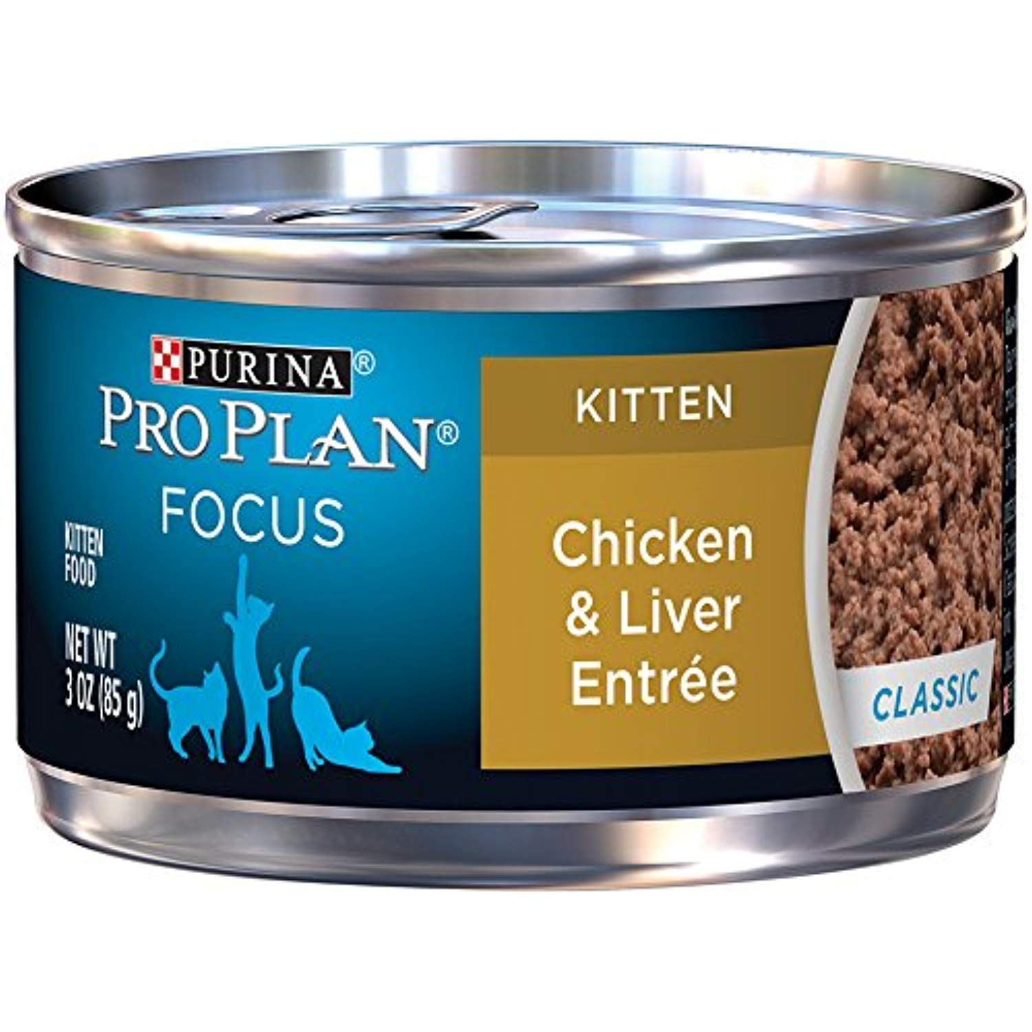 Purina Pro Plan Wet Cat Food Focus Kitten Chicken And Liver Entre 3 Ounce Can Pack Of 24 You Can Get Ad Canned Cat Food Cat Food Reviews Purina Pro Plan