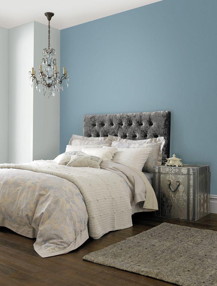 Tempest Blue Matt Period Collection Crown Paints Feature