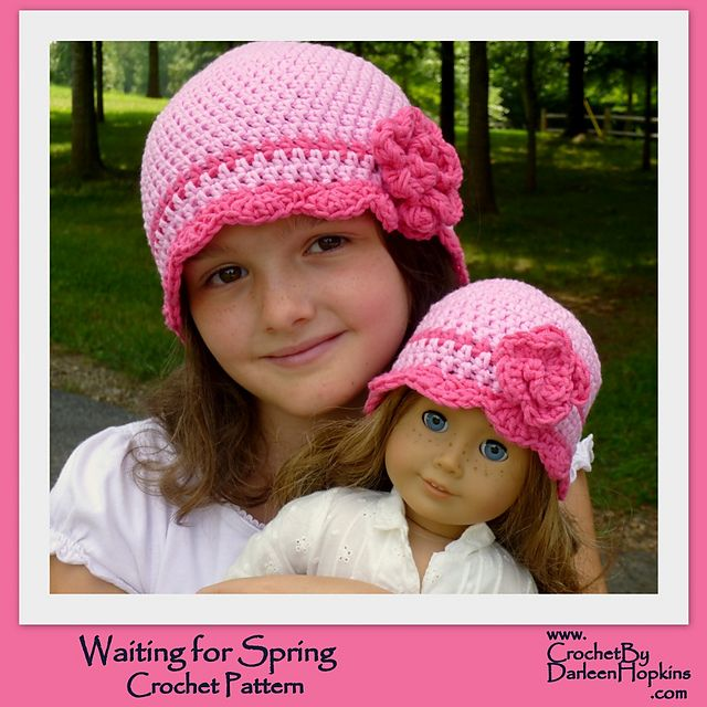 1babca584fc Ravelry  Waiting for Spring Flapper Hat with Rose pattern by Darleen Hopkins