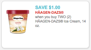 image relating to Haagen Dazs Printable Coupon referred to as Exceptional $1.00/2 Haagen Dazs Ice Product Printable Coupon