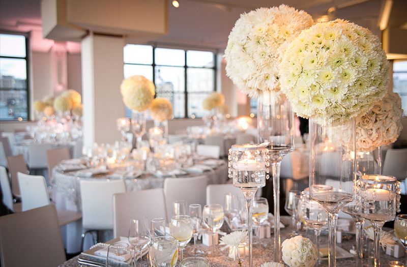Eggplant And Silver Wedding Reception Glamorous White New York Every Last