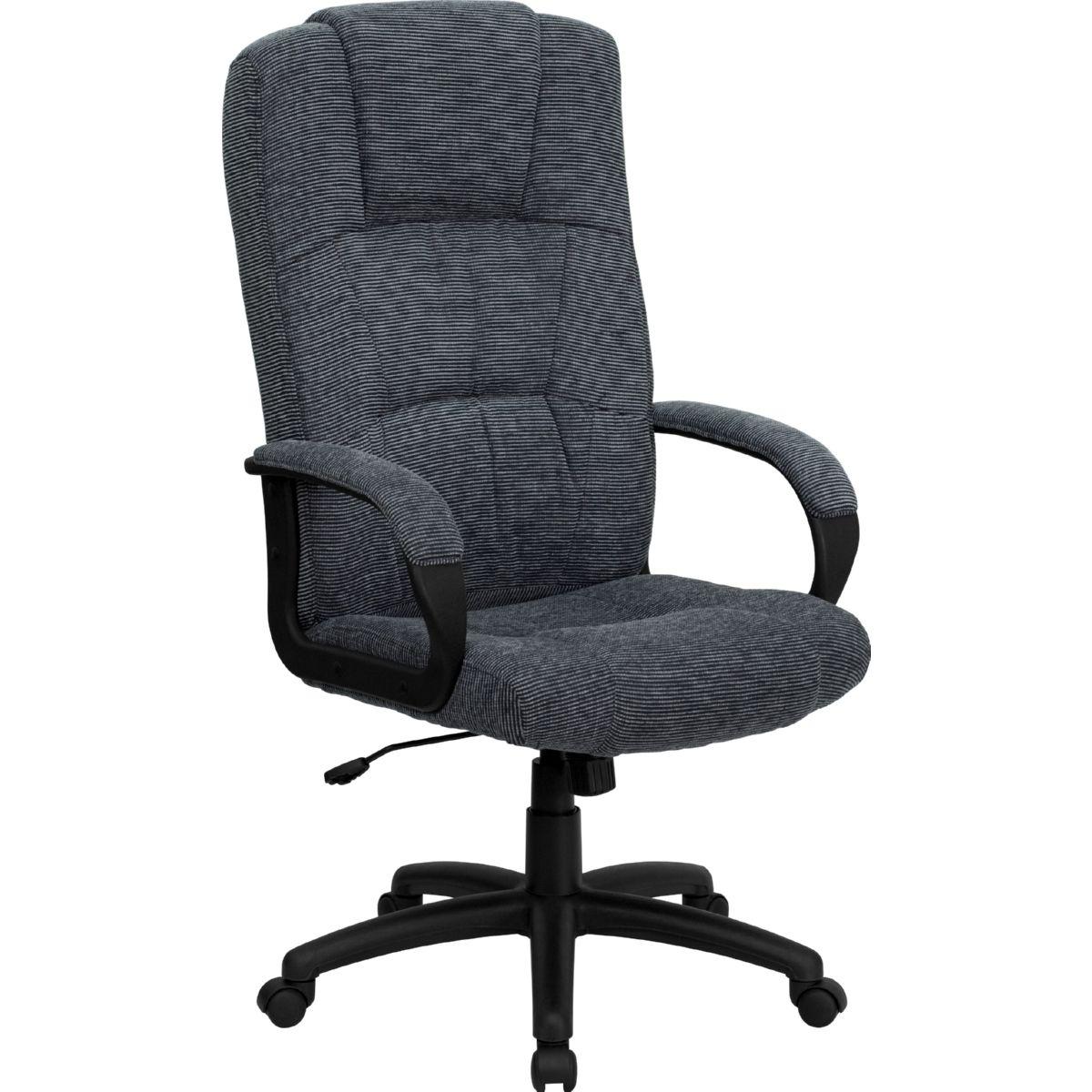 Flash High Back Gray Fabric Executive Swivel Office Chair