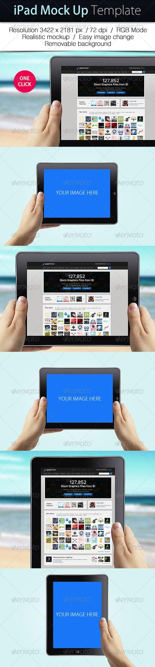 GraphicRiver iPad Mockup Template Mockup template