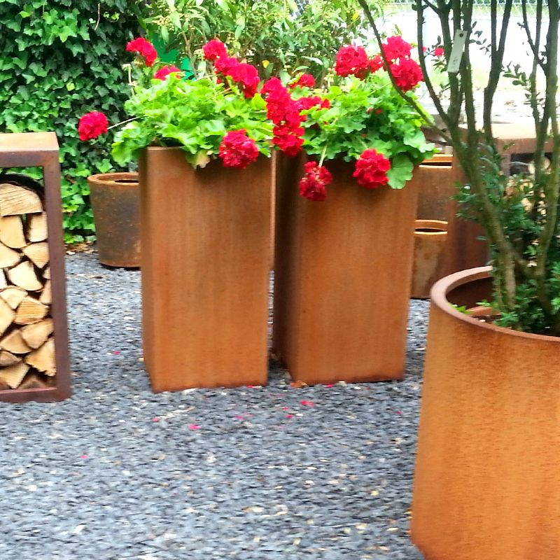 Pot Company: Corten Steel Andes High Cube Planter 1 of 2