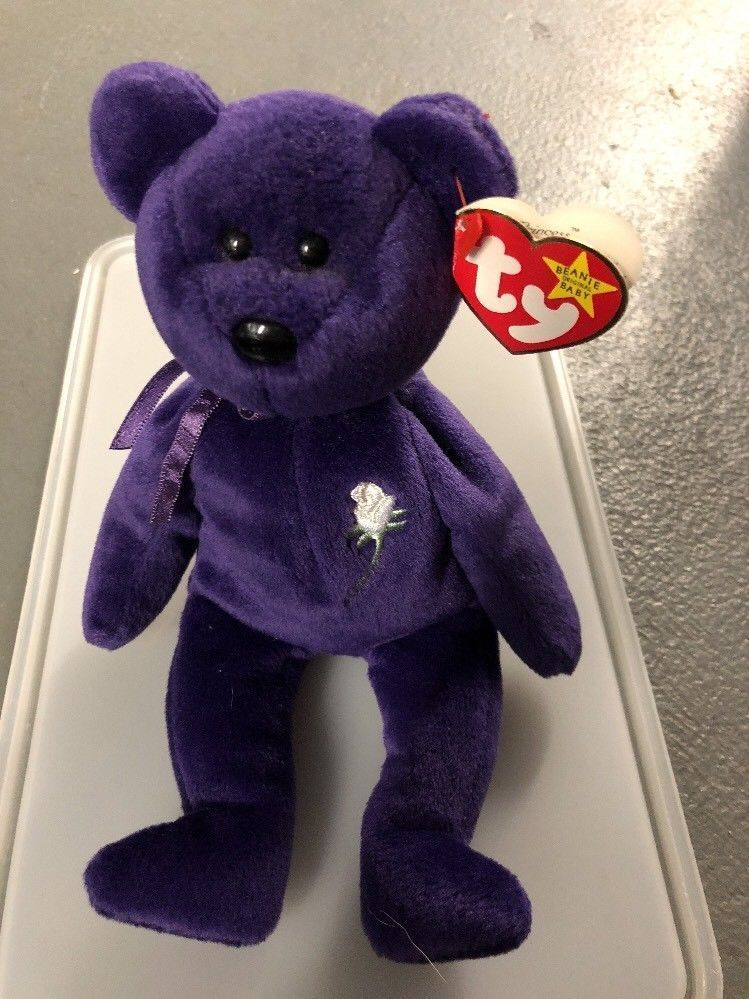 bbb78d83f3e RARE! TY Beanie Babies Princess Diana Bear - MWMTs! RETIRED!  Ty ...