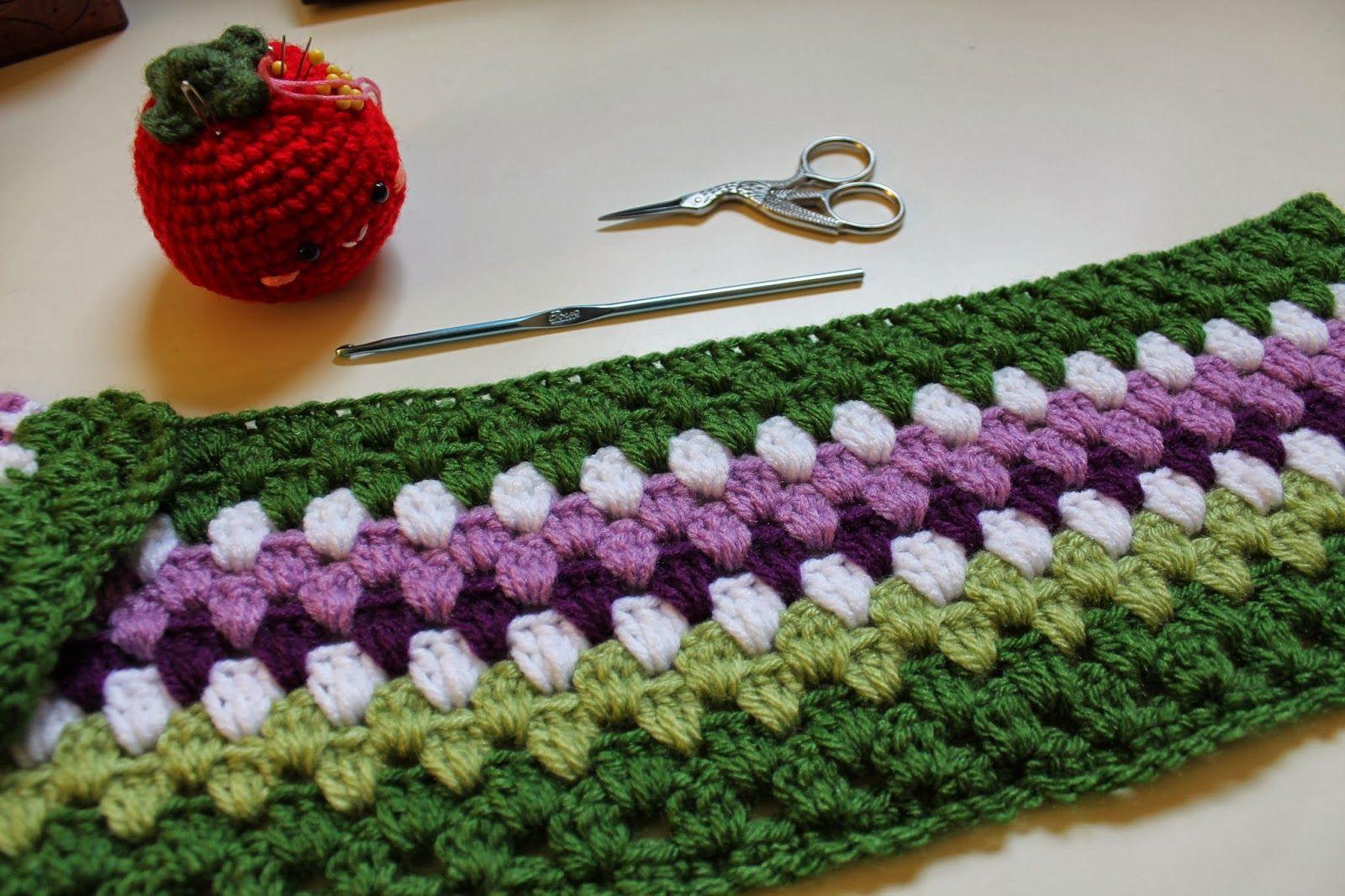 Amigurumi Food: Crochet granny stripe-Manta para cuna {Patrón ...