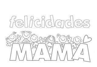 Feliz Dia De La Madre Para Colorear Dibujos Para Colorear Infantil