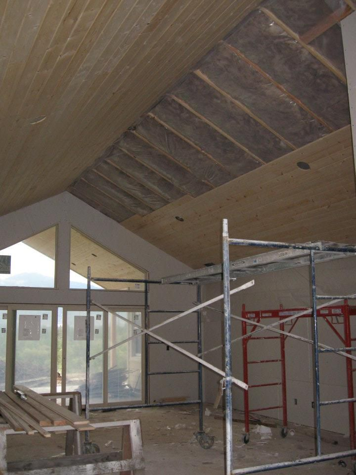 Knotty Pine Tongue Groove Ceiling Continued From Patio