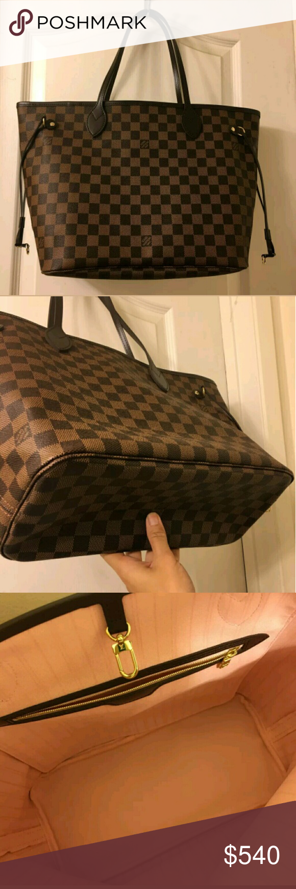 Louis Vuitton neverfull Neverfull Gm Has date code Used a couple of times Had for 3 months Great condition Can ship in 1-2 days No worn straps Can text me before buying might be on hold 5865710150 Louis Vuitton Bags