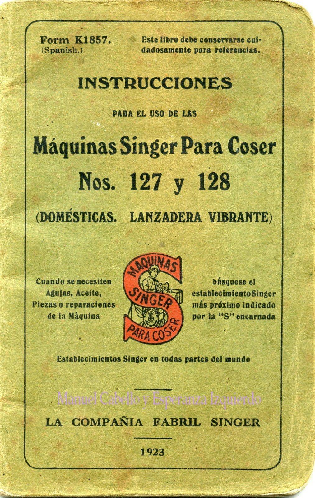 Instrucciones para la Máquina de Coser Singer (con