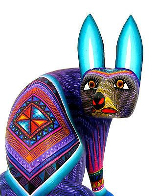 OAXACAN wood carving COYOTE by JULIA FUENTES & JOSE JUAN - OAXACA Alebrije