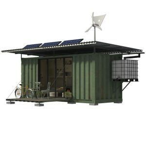Julia_Exterior of Shipping Container #shippingcontainercabin