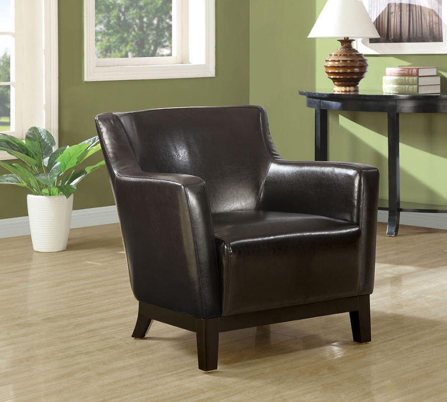 Brilliant Monarch Specialties Leather Accent Chair Iv Faux Leather Ibusinesslaw Wood Chair Design Ideas Ibusinesslaworg