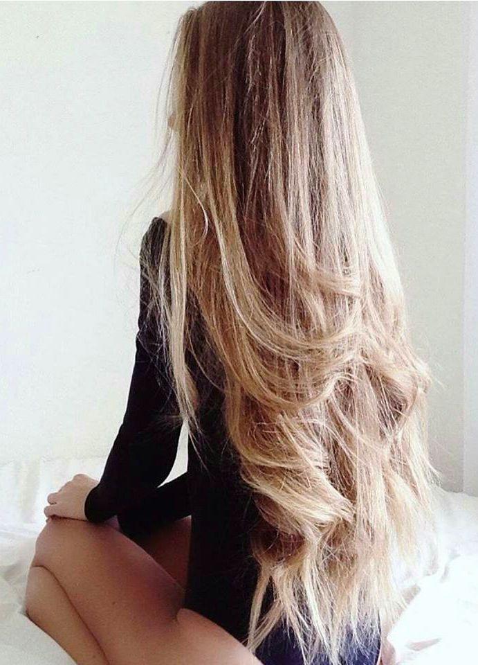 Very Long Blond Hair Black On Blond In Bed Hair
