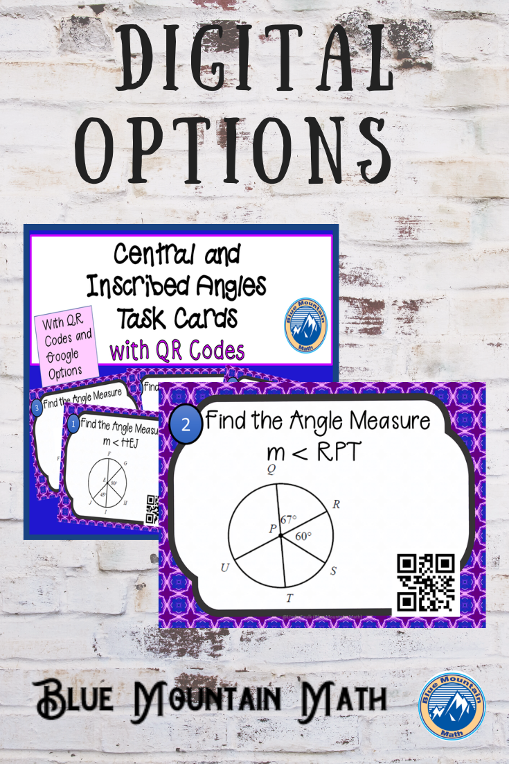 Arc Length Sector Area Task Cards W Google Options Qr Codes Distance Learning Task Cards Common Core Math Activities Coding [ 1102 x 735 Pixel ]