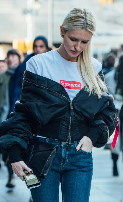 Tommy Ton, Street Style, New York Fashion Week, Denim, Supreme, Cold Shoulder, NYFW