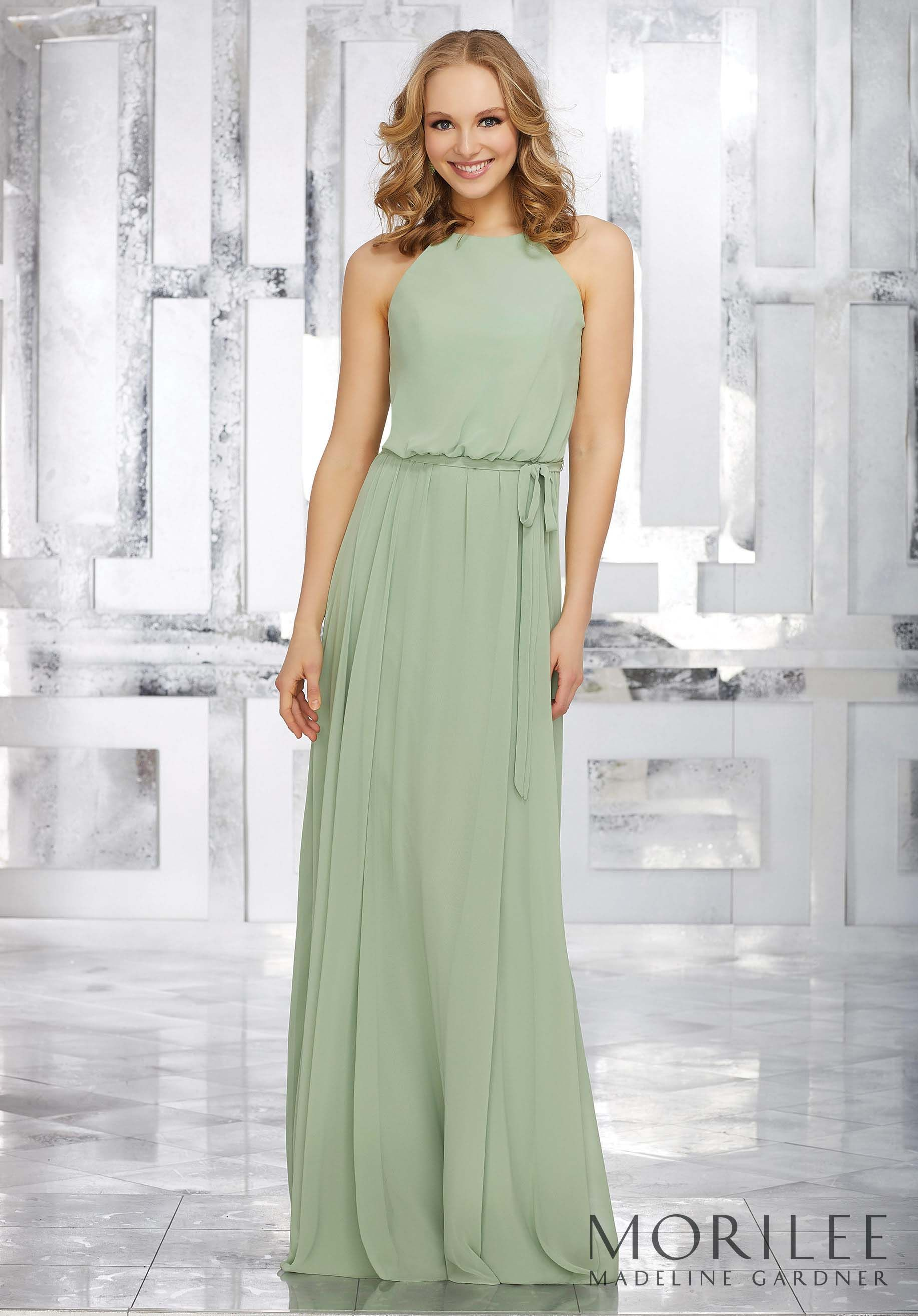 516059de1b695 Morilee | Madeline Gardner, style 21543. Feminine and Chic, this Long Flowy  Chiffon