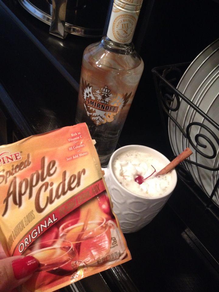 Apple cider & caramel vodka