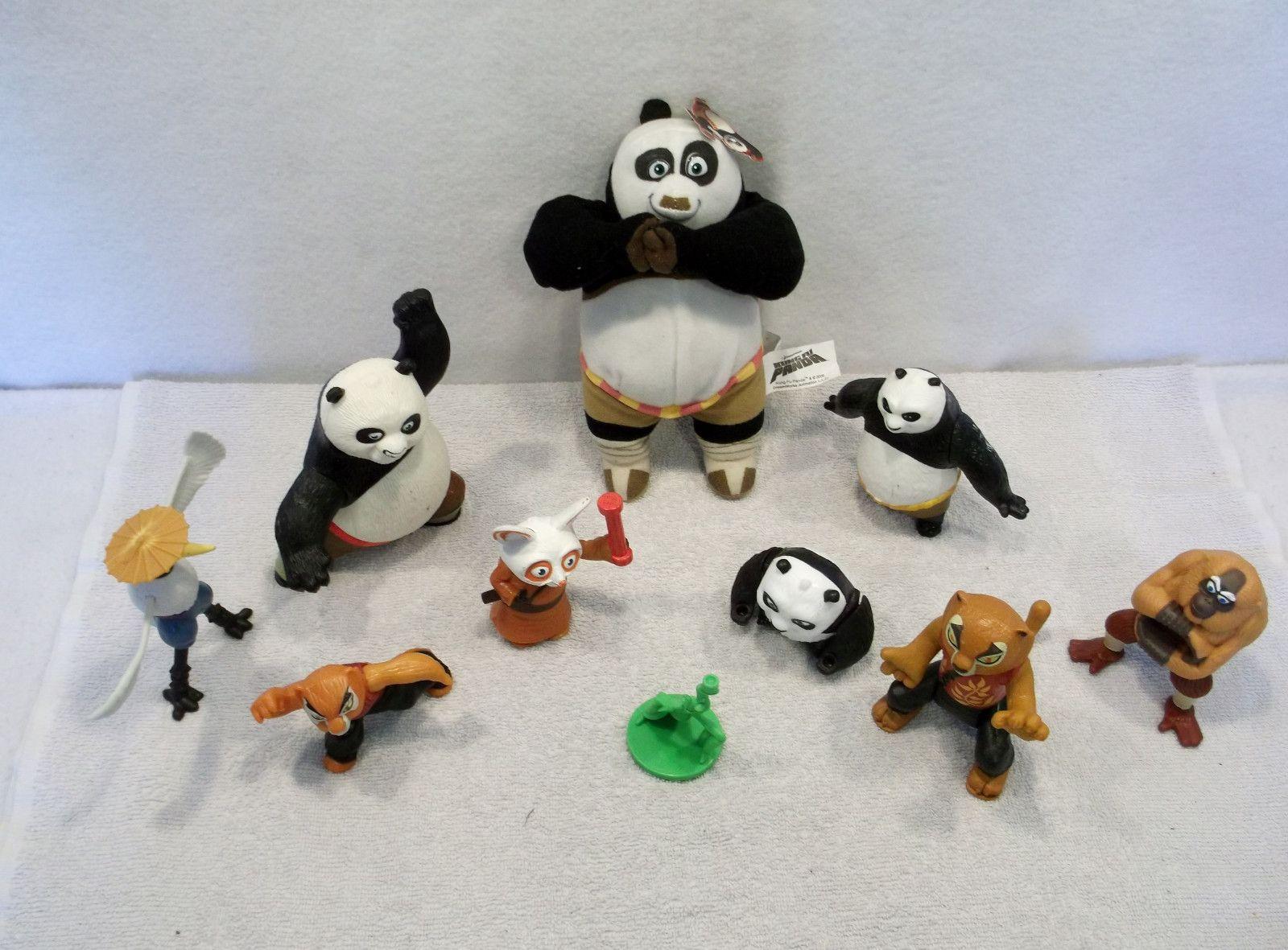 Lot Of Used Dreamworks Kung Fu Panda Po Tigress Shi Fu Toys Figures
