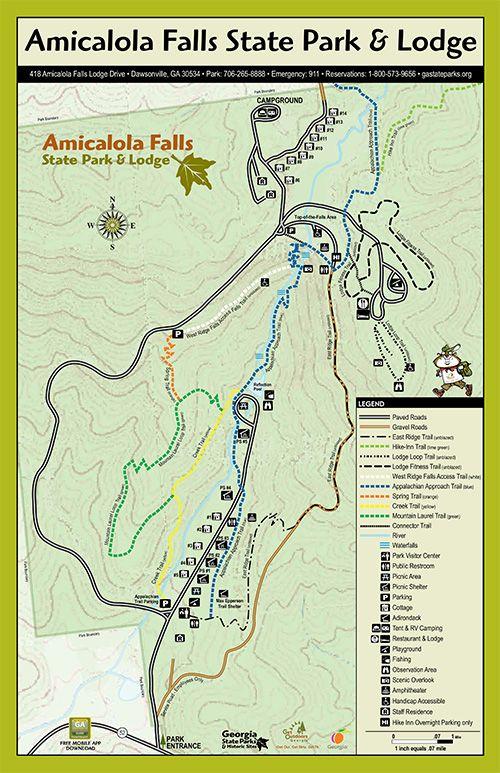 Amicalola Falls Map : amicalola, falls, Georgia, Amicalola, State, Ideas, Parks,, Falls,, Parks