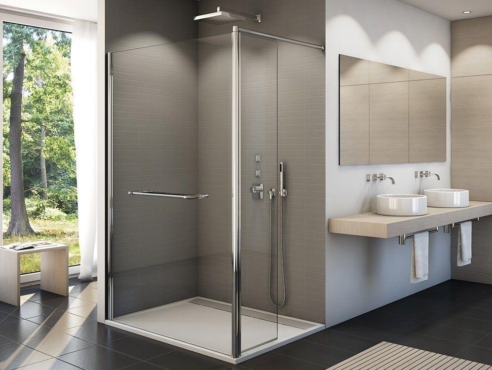 Freistehende Duschwand 200 X 200 Cm Echtglas Esg 6 Mm Incl Antikalk Glasveredelung Profil Alu Silber Hochglanz Duschwand Bi Duschwand Dusche Walk In Dusche