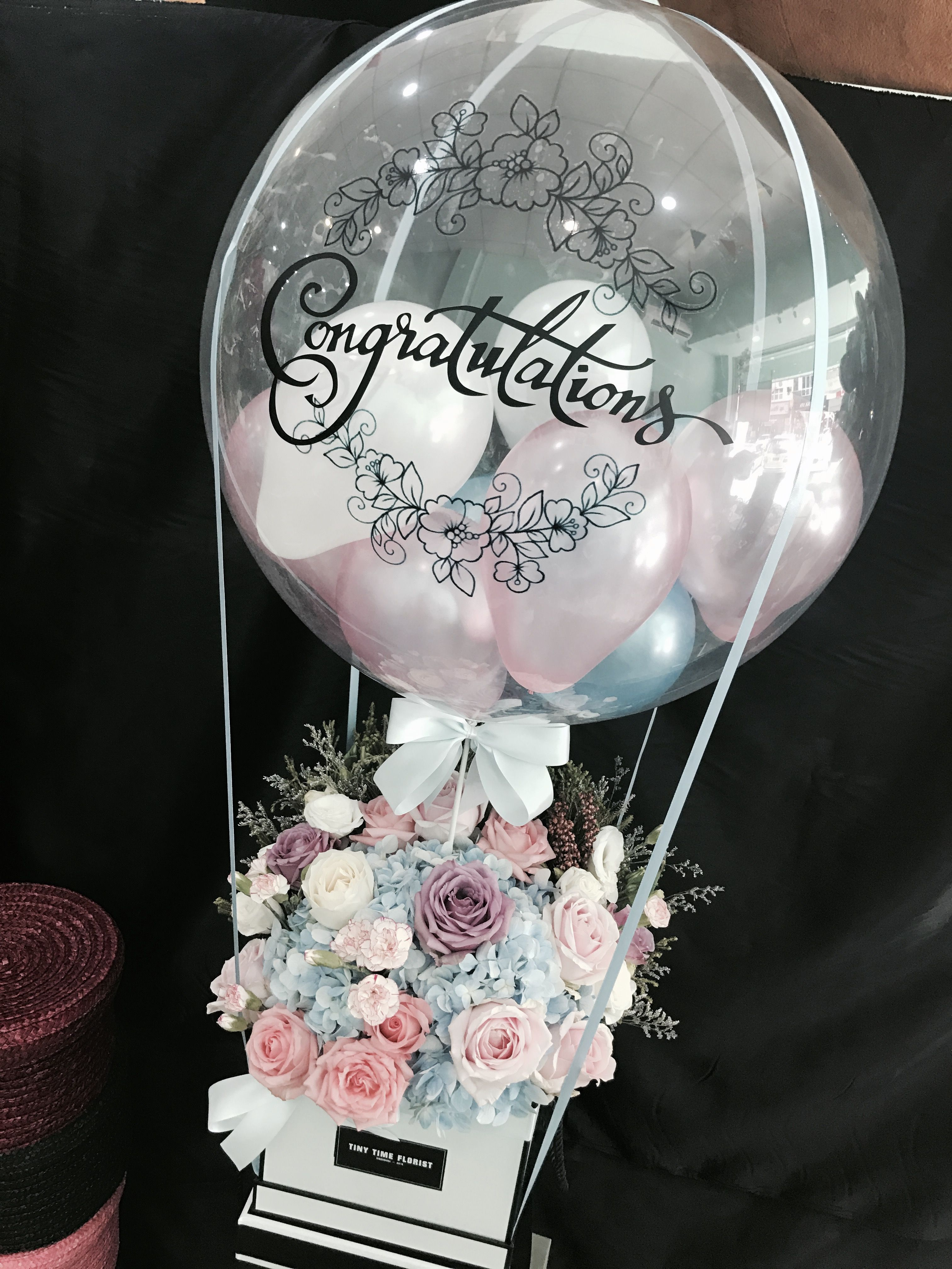 Bubble Balloon With Flower Box Bubble Balloons Flower Box Gift Balloons
