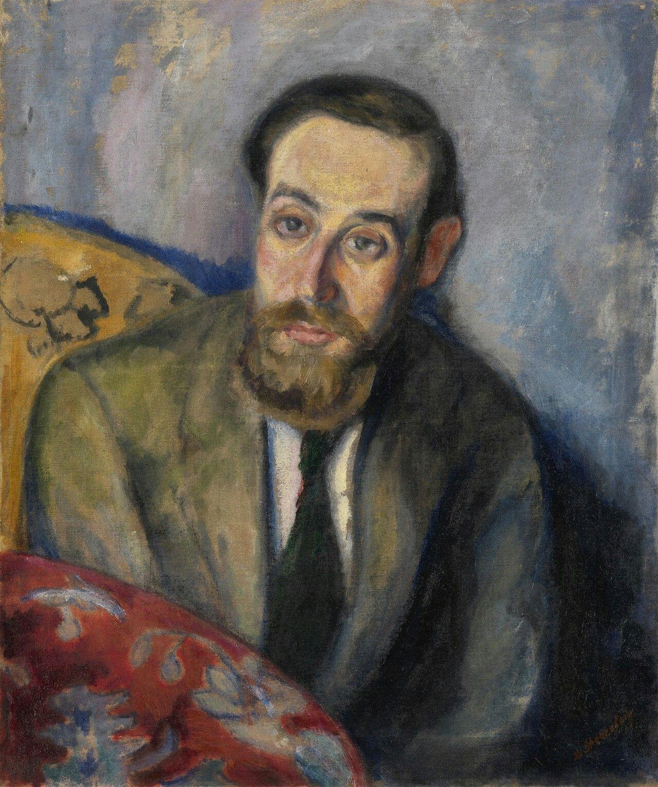 David Shterenberg (Russian, 1881-1948),Self-portrait. Oil on canvas, 61 x 50 cm.