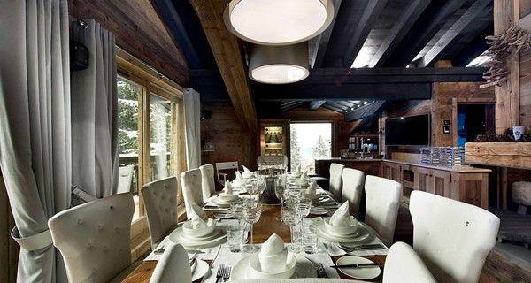 Luxury Chalet Design Ideas : Sleek Dining Room At Le Petit Chateau ...