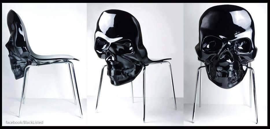 Lovely skull chair