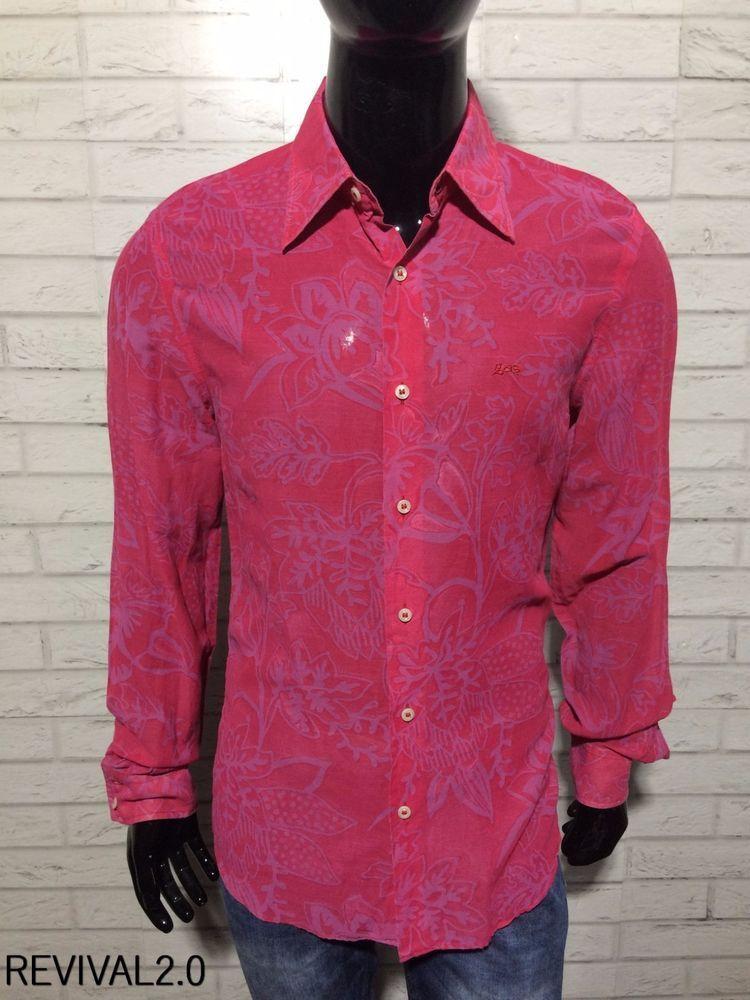 outlet store b3d86 605e8 Camicia Maglia Shirt GAS COLLECTION IN SETA Uomo L manica ...
