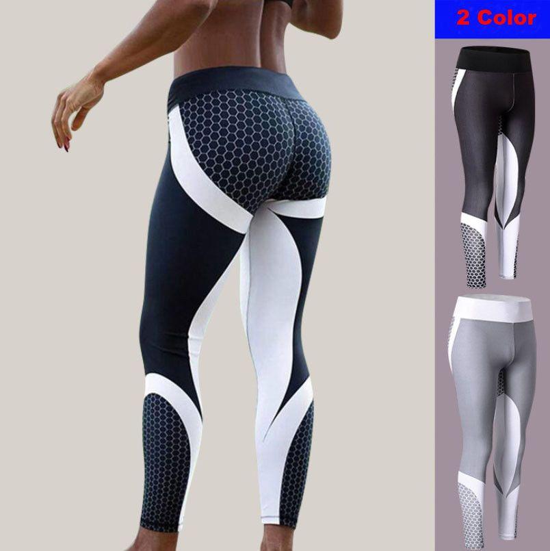 Women/'s Yoga Pants Fitness Leggings Running Gym Workout Sports Trousers Print UK