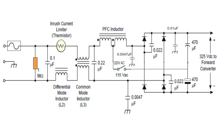 Passive Pfc Power Factor Correction Circuit Power Topology