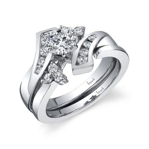 7653b2628952a Bypass Engagement ring with interlocking wedding band | Husar's ...