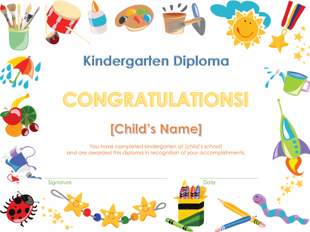 pre k diploma certificate for my babies when they finish learning