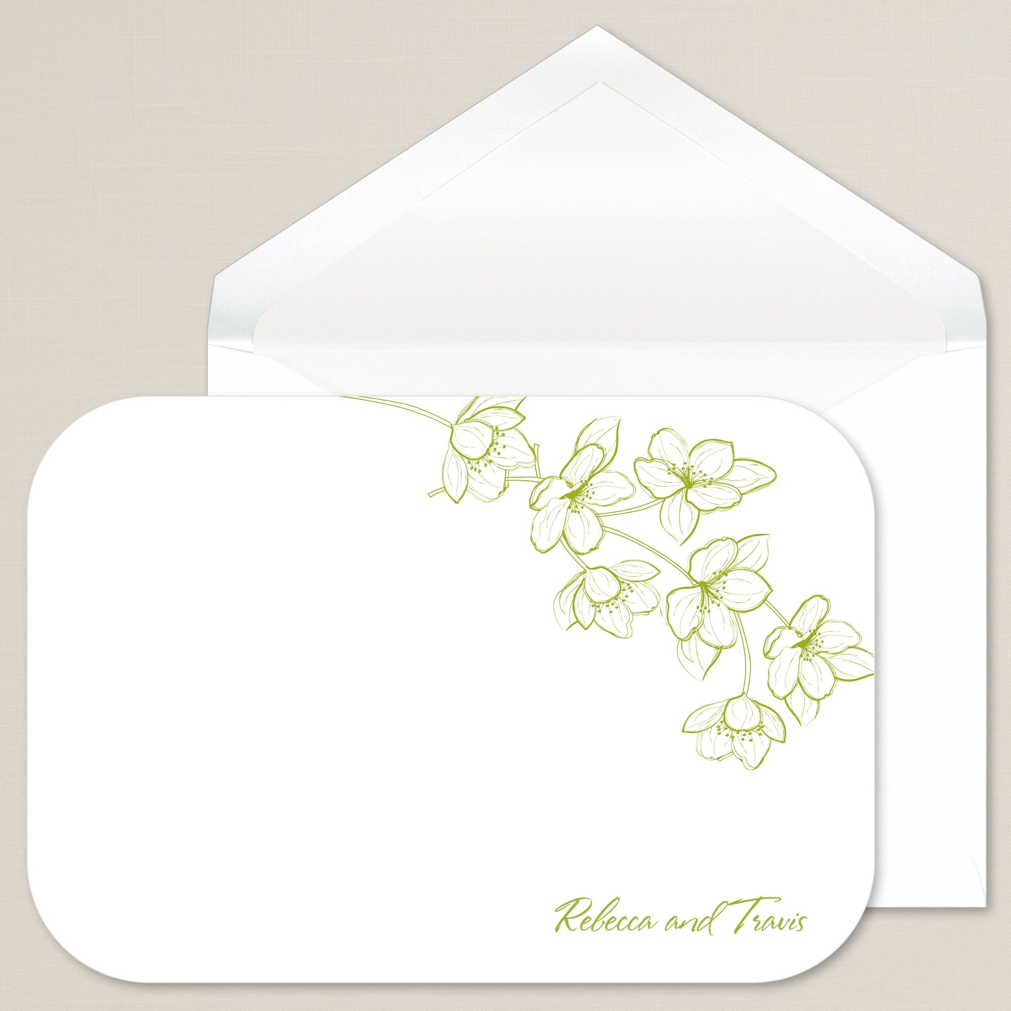 Love Affair Thank You Note | #exclusivelyweddings