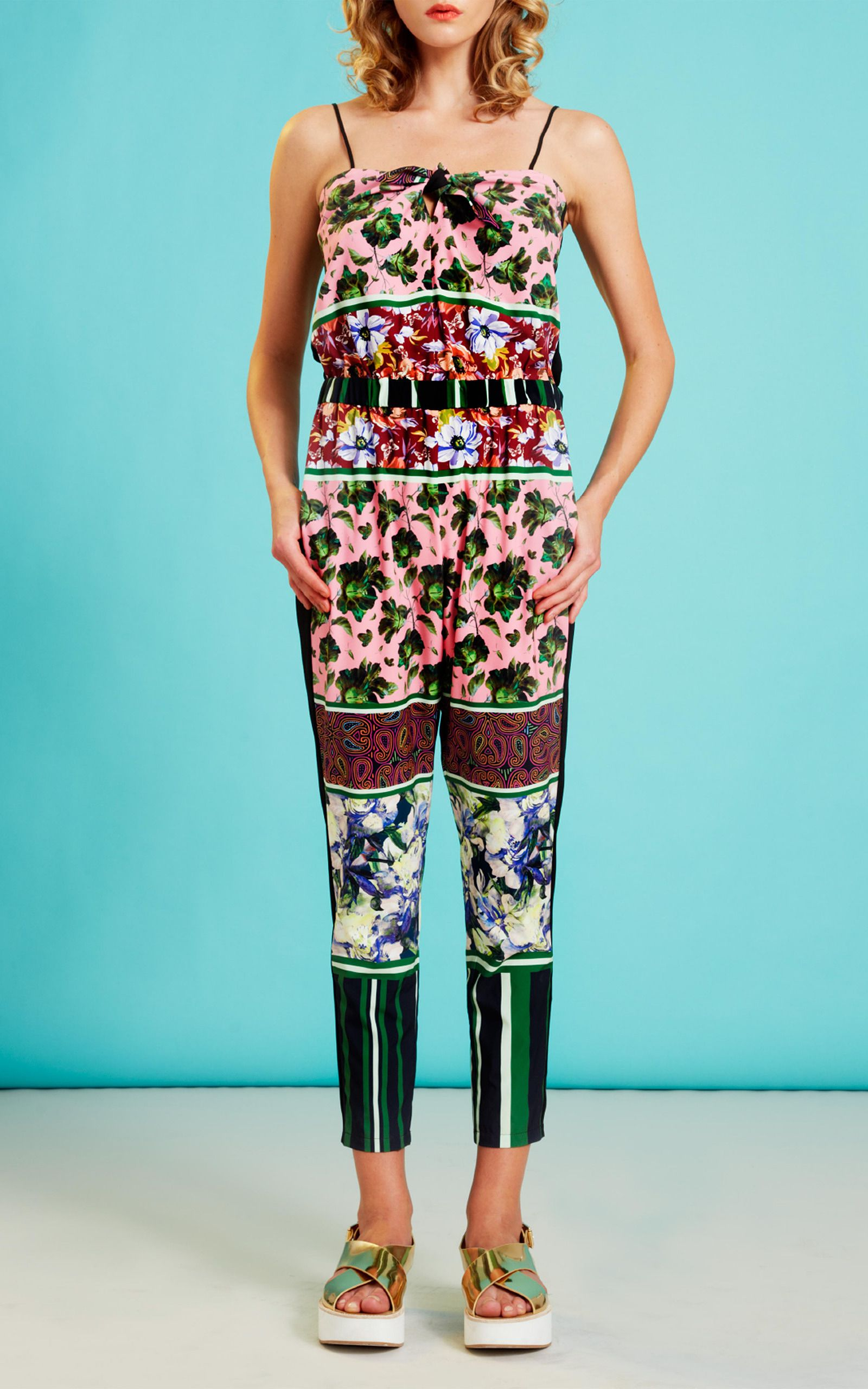 3f1b568c367 Floral Collage Jumpsuit by Clover Canyon for Preorder on Moda Operandi